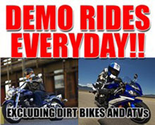 Stadium Yamaha Demo Rides Available